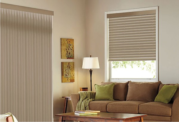 Matching Windows And Blinds For Patio Door : Patio door vertical blinds finishes to match your